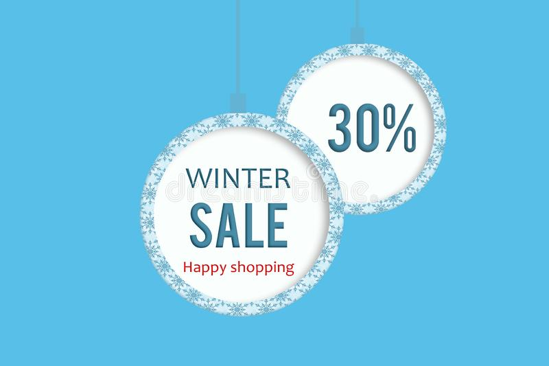 Winter sale 30% stock images
