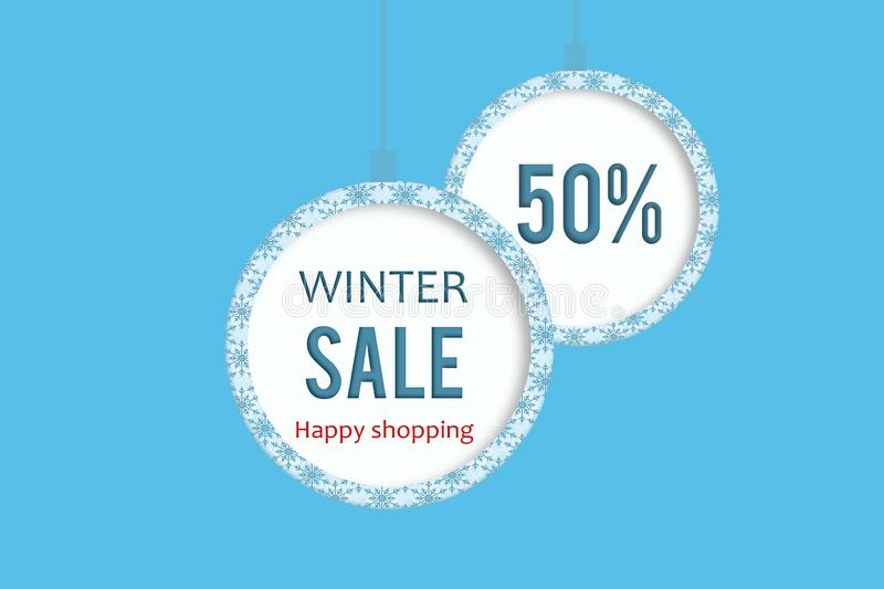 Winter sale 50% royalty free stock photography