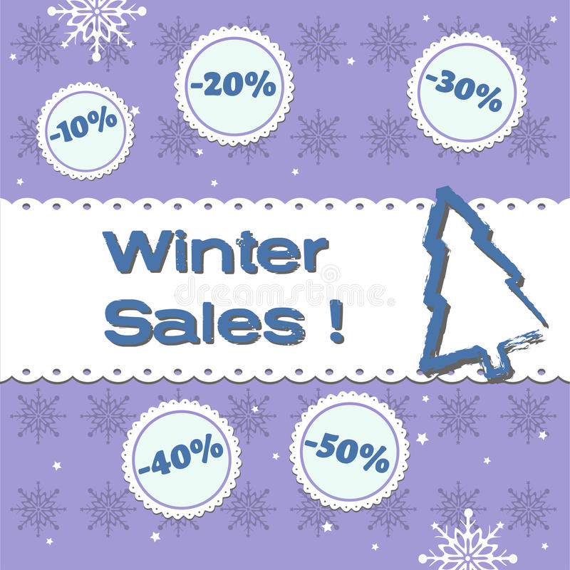 Winter sales royalty free stock images
