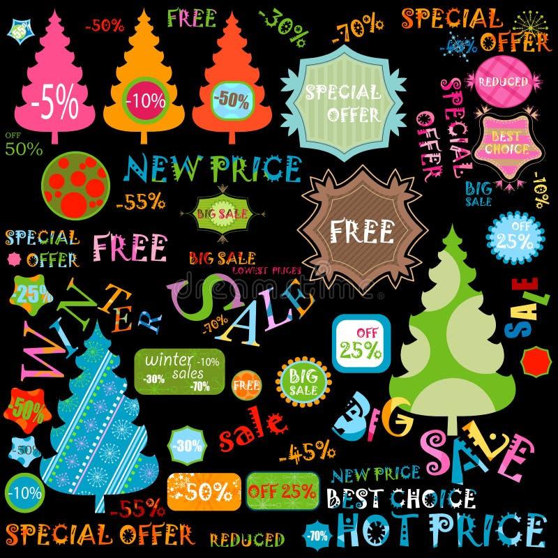 Download Winter sales set stock vector. Illustration of green - 17468248