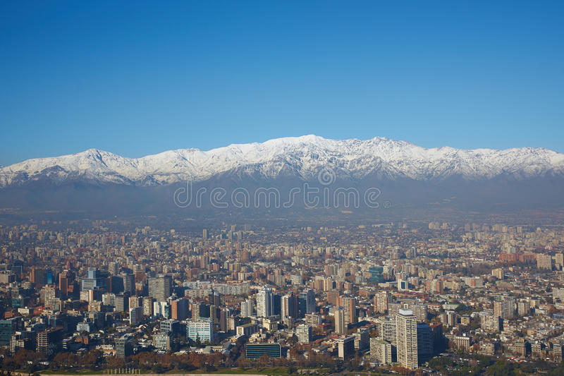 Winter in Santiago stock photography