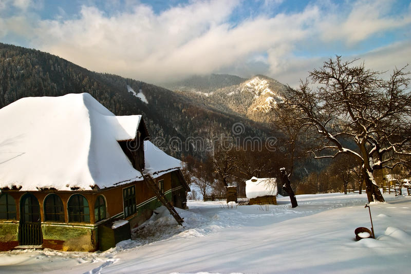Download Winter scape stock image. Image of cabin, tranquil, plant - 11818289