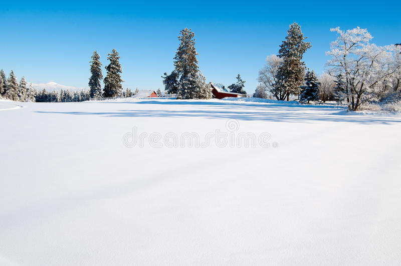 Winter scape stock images