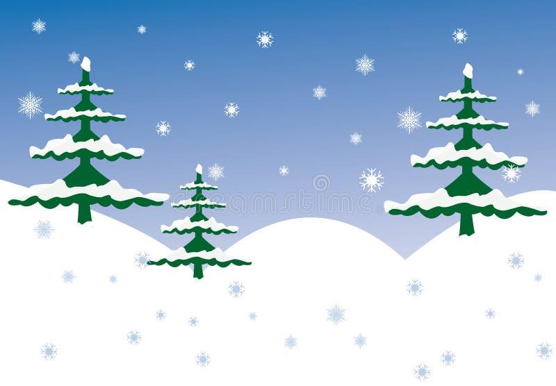 Winter scene stock illustration