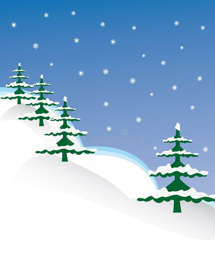 Winter scene vector illustration