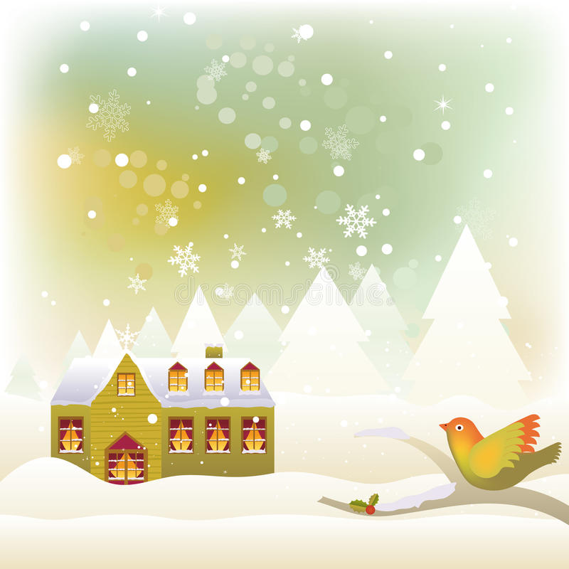 Winter Scene vector illustration