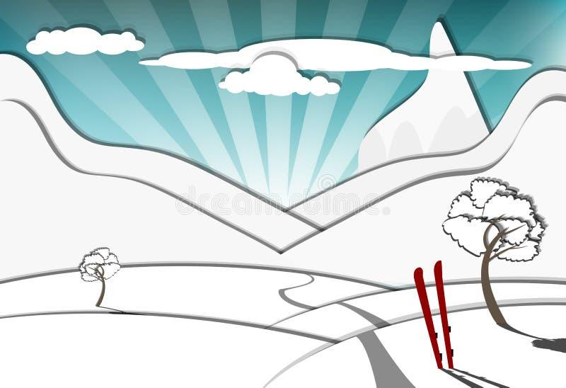 Download Winter scene stock vector. Illustration of natural, travel - 24522829
