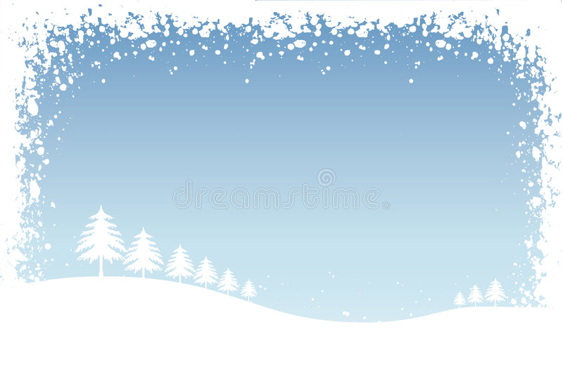 Download Winter scene stock vector. Image of winter, vector, background - 329811