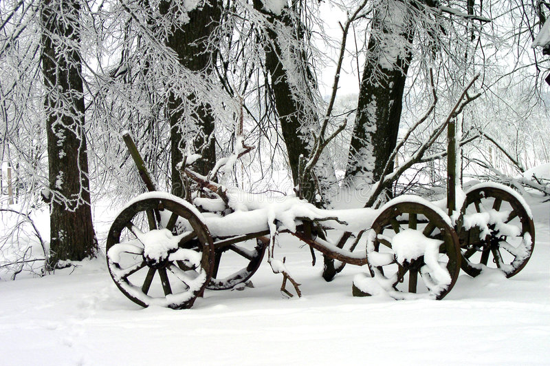 Download Winter Scene stock image. Image of transportation, seasonal - 385447