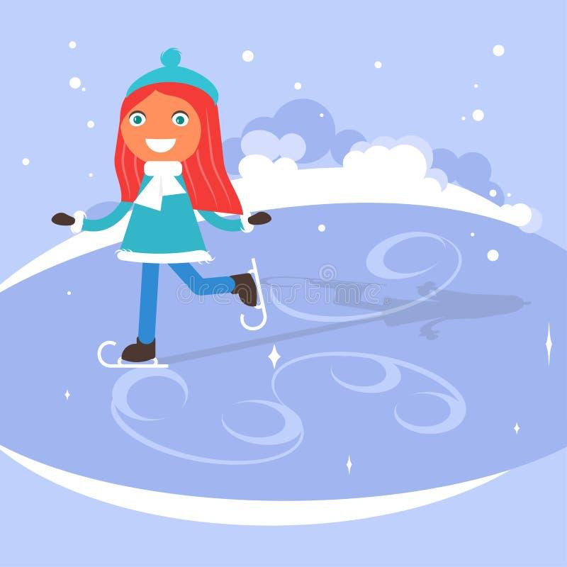 winter scene with children stock vector illustration of girl rh dreamstime com