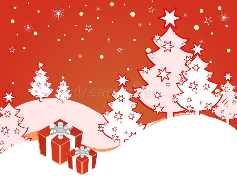 Winter scene - christmas card stock illustration