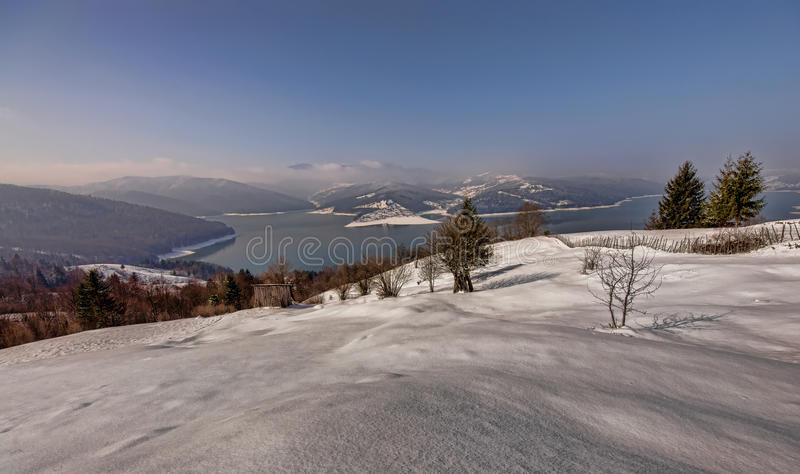 Download Winter scene in mountains stock image. Image of mountains - 29478053