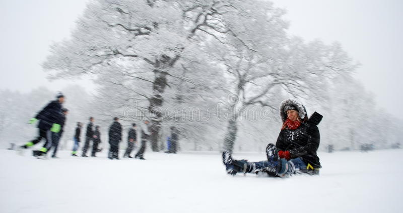 Download Winter scene editorial photography. Image of fast, people - 49013157