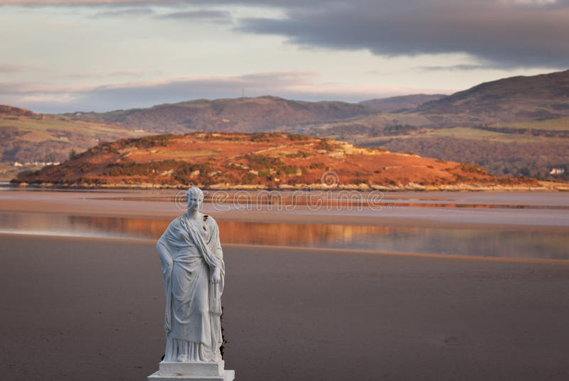 Winter scene at Portmeirion in Wales royalty free stock image