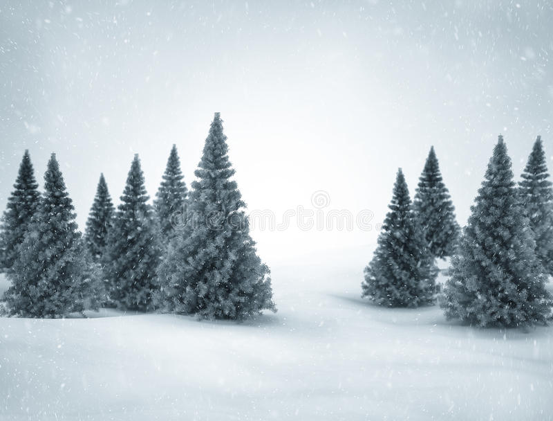 Winter scene stock illustration