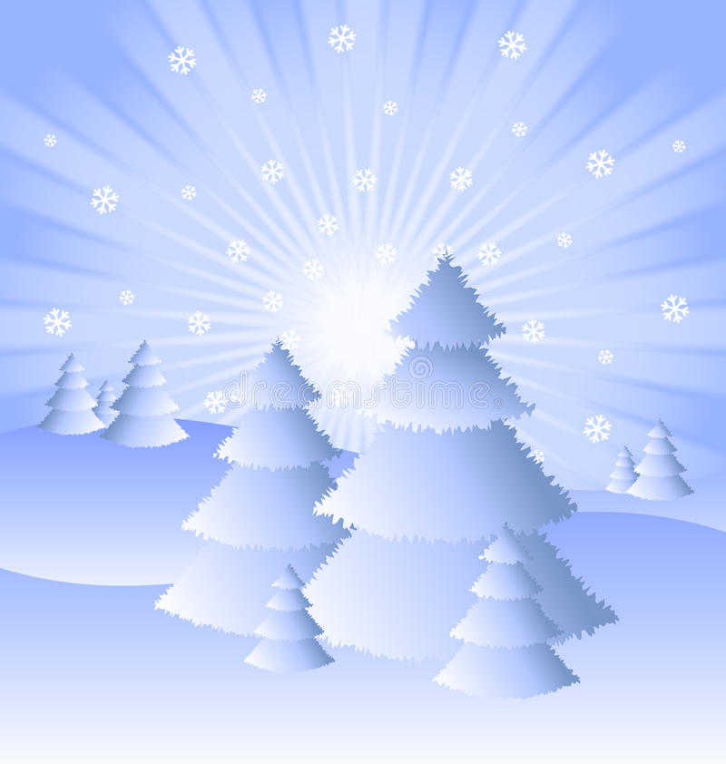 Download Winter Scenery stock vector. Illustration of composition - 22251267
