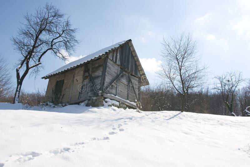Download Winter Scenery Hut Stock Image - Image: 13371311