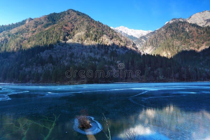 Winter scenery in Jiuzhaigou royalty free stock photo