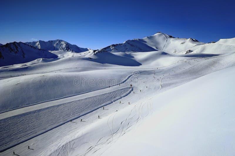 Samnaun Ski Resort, Switzerland stock photography
