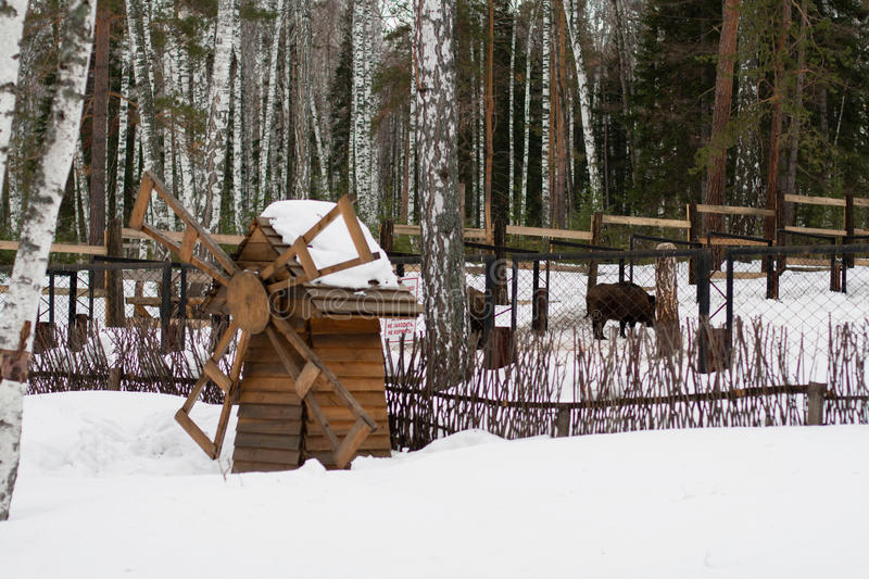 Download Winter Scenery, Old Wooden Mill Stock Image - Image: 36604041