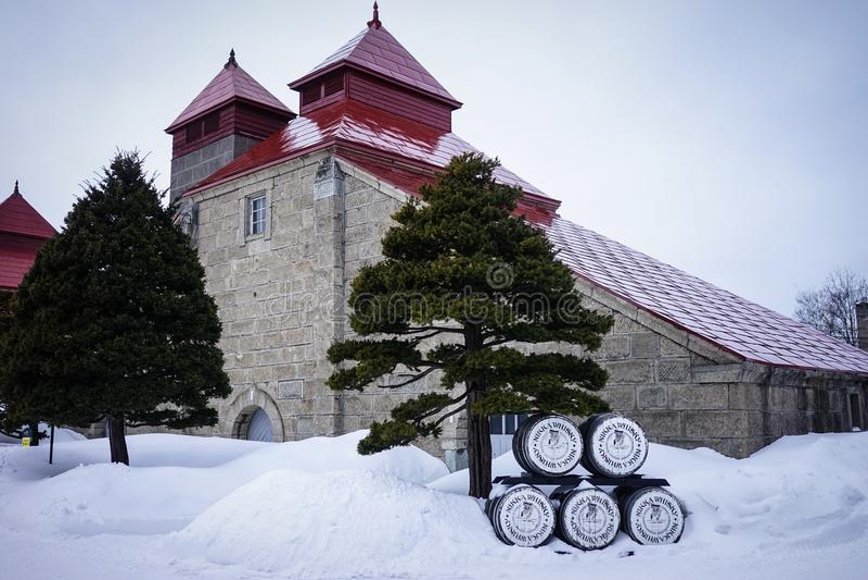 Winter scenery in Yoichi, Hokkaido, Japan royalty free stock image