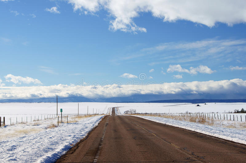 Winter scenic, Las Vegas NM stock image