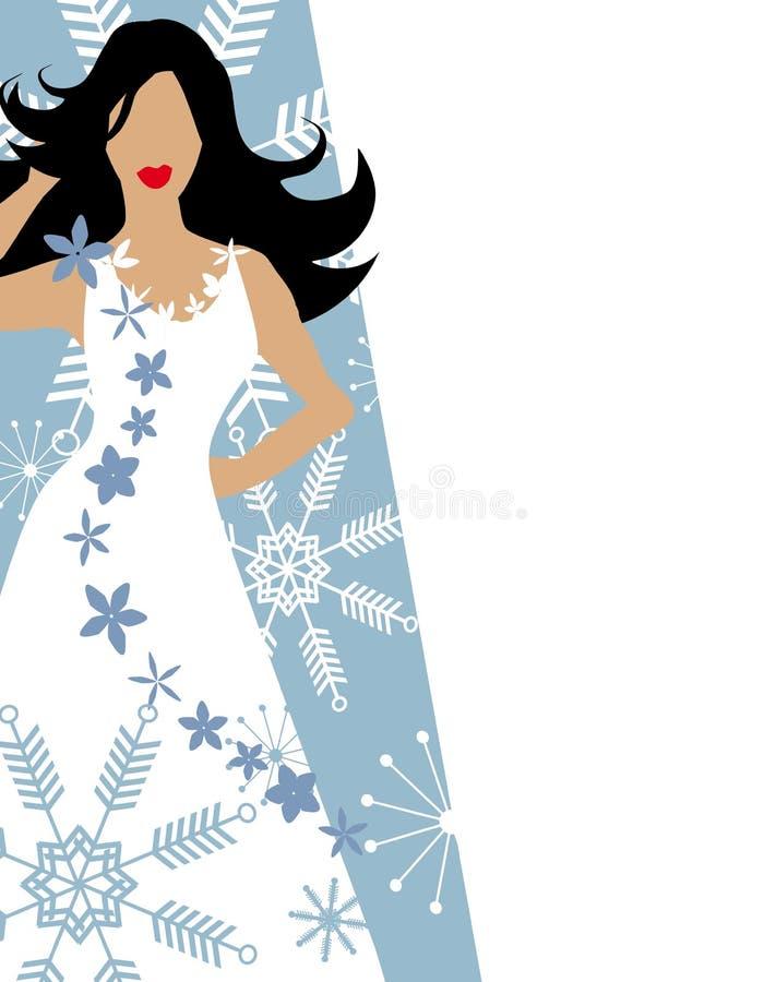 Winter-Schnee-Art- und Weisebaumuster-Blau lizenzfreie abbildung