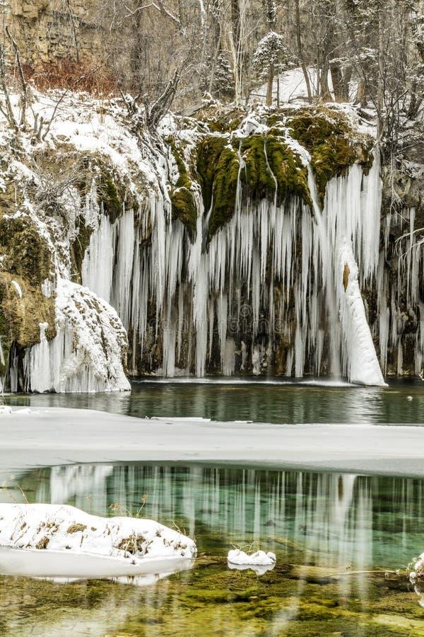 Winter, Schnee, Kälte, See eingefroren, Colorado, Co, versteckter See stockfotografie
