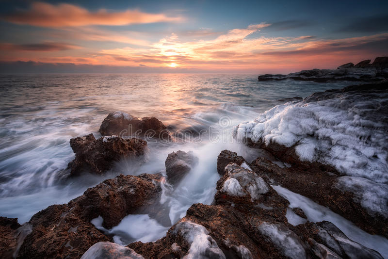 Winter sea royalty free stock photography