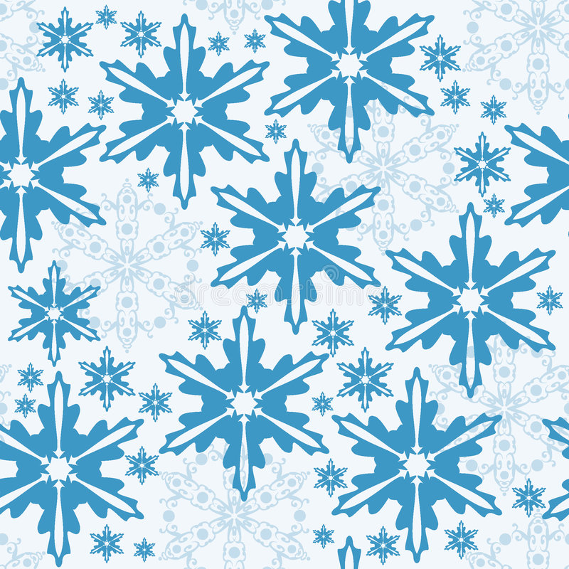 Winter seamless pattern stock image