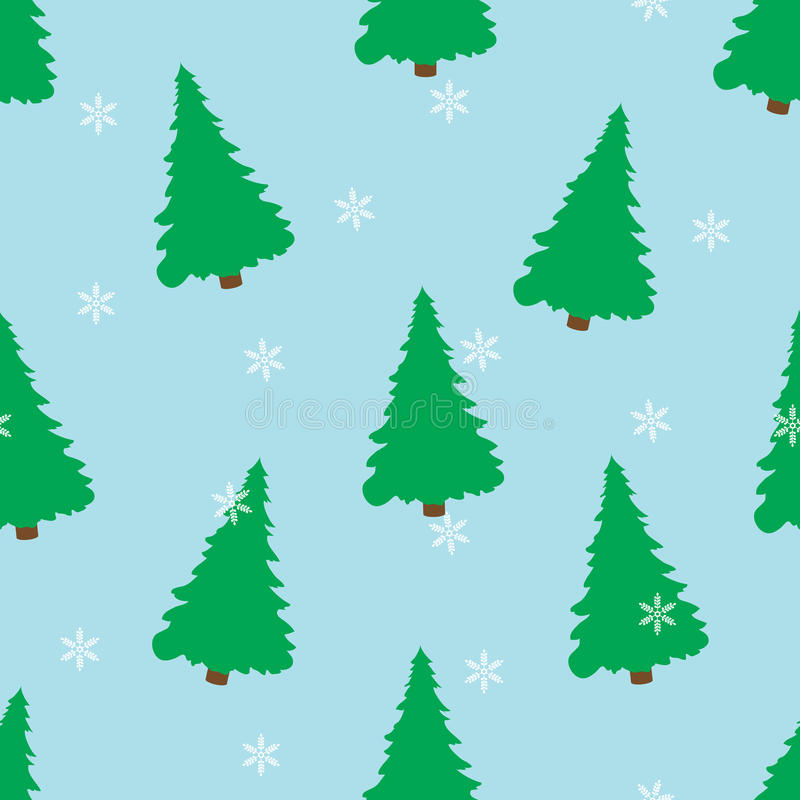 Winter seamless pattern on a blue background. royalty free illustration