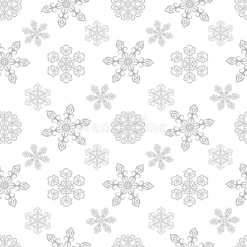 Winter Seamless Pattern With Snowflakes Stock Photography