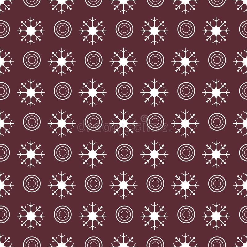 Winter seamless pattern with snowflakes and circles. Design for banner, poster or print. Vector. Winter seamless pattern with snowflakes and circles. Design for vector illustration