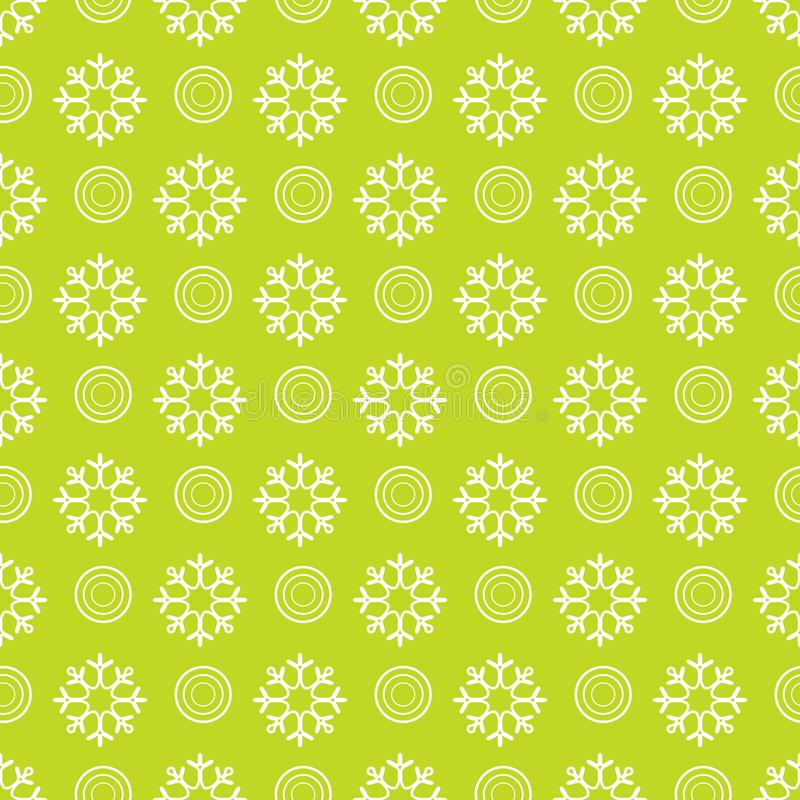 Winter seamless pattern with snowflakes and circles. Design for banner, poster or print. Vector. Winter seamless pattern with snowflakes and circles. Design for stock illustration