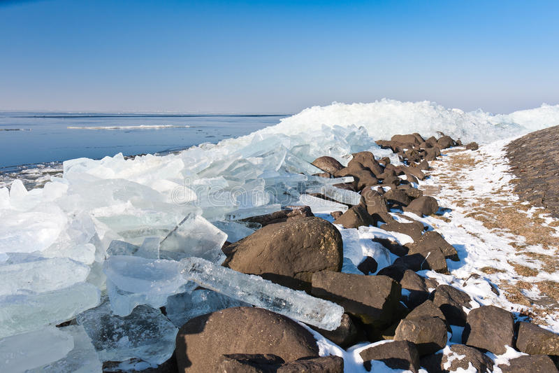 Download Winter Seascape With Ice Hummocks Stock Images - Image: 23428294