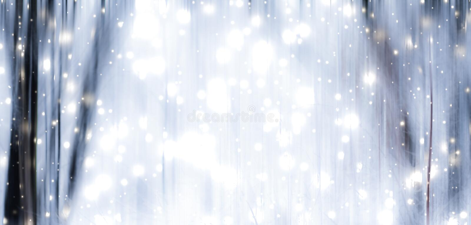 Winter season abstract nature art print and Christmas landscape holiday background, snowy magical forest as luxury brand postcard. Holidays branding, fantasy and royalty free stock photography