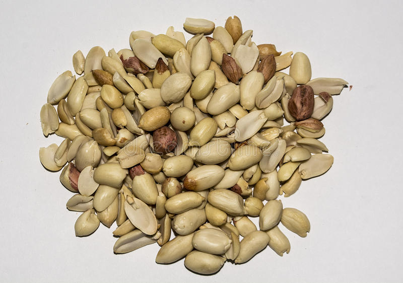 Winter season peanuts stock photography