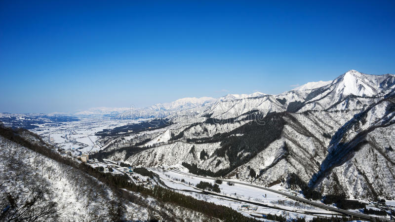 Winter season in Yuzawa, Niigata Prefecture, Japan royalty free stock photography