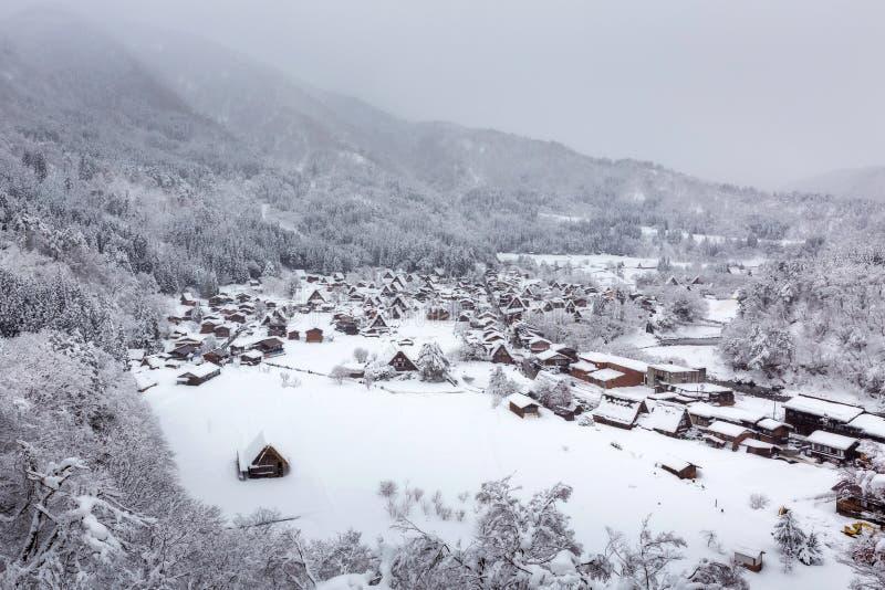 Winter Shirakawa-go village in Japan royalty free stock photography
