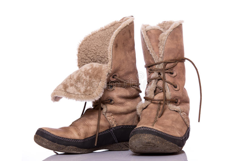 Winter shoes stock images