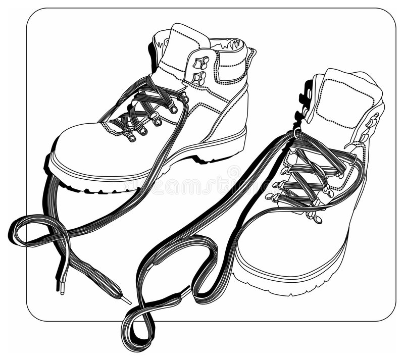 Winter_shoesLines royalty-vrije illustratie