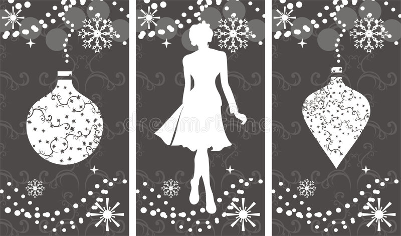 Download Winter shopping stock vector. Image of customer, concept - 7244075