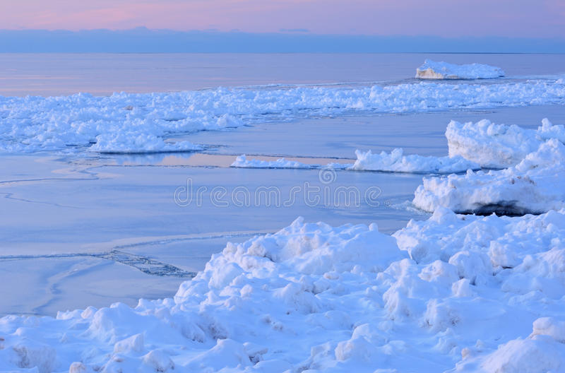 Download Winter Shoreline Lake Michigan Stock Photo - Image of winter, texture: 12350076