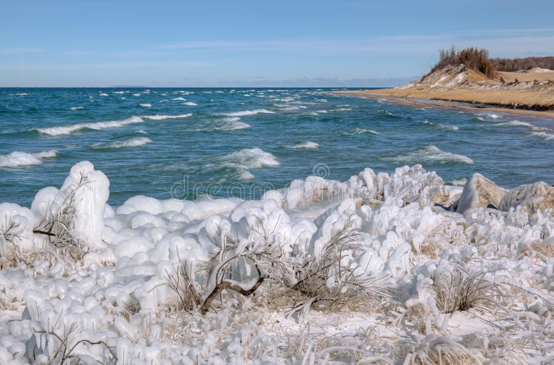 Download Winter Shoreline Lake Michigan Stock Photo - Image: 28603950