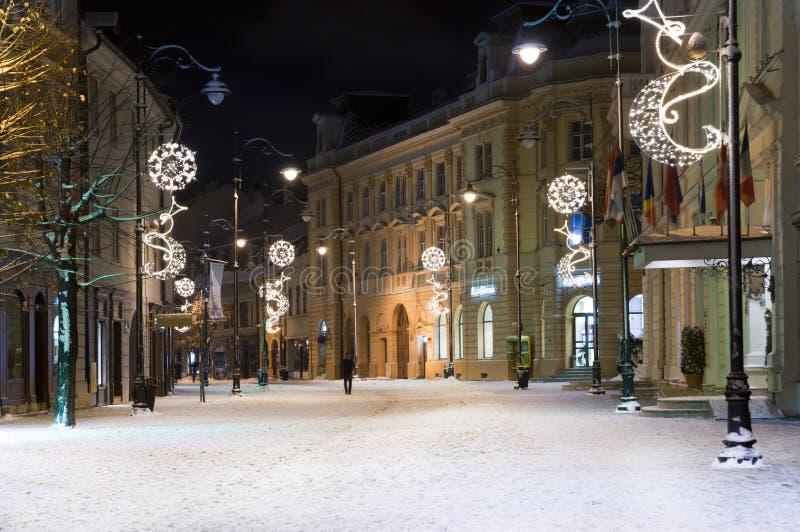 winter in sibiu um weihnachten stockbild bild von europa. Black Bedroom Furniture Sets. Home Design Ideas
