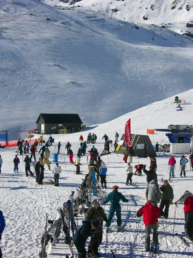 Winter Ski in New Zealand stock image