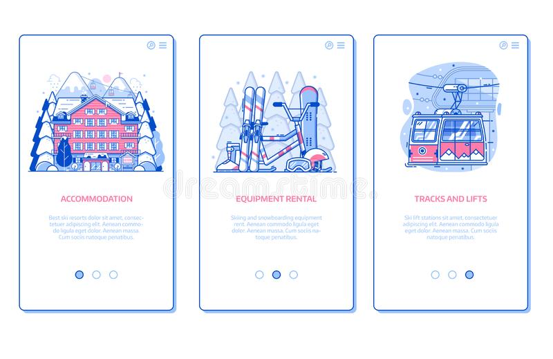 Winter Ski Resort Mobile A royalty free illustration