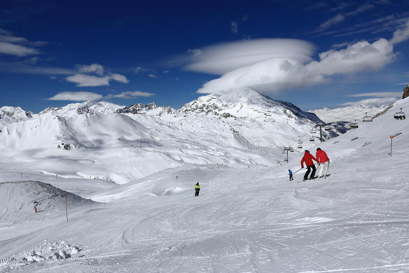Winter Ski Resort Of TignesVal D Isere France Editorial