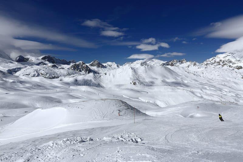 Winter Ski Resort Of TignesVal D Isere France Stock Photo Image