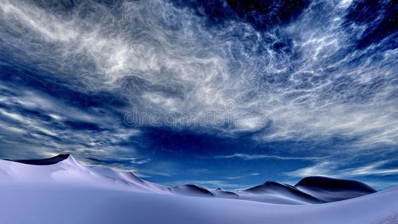 Winter sky vector illustration